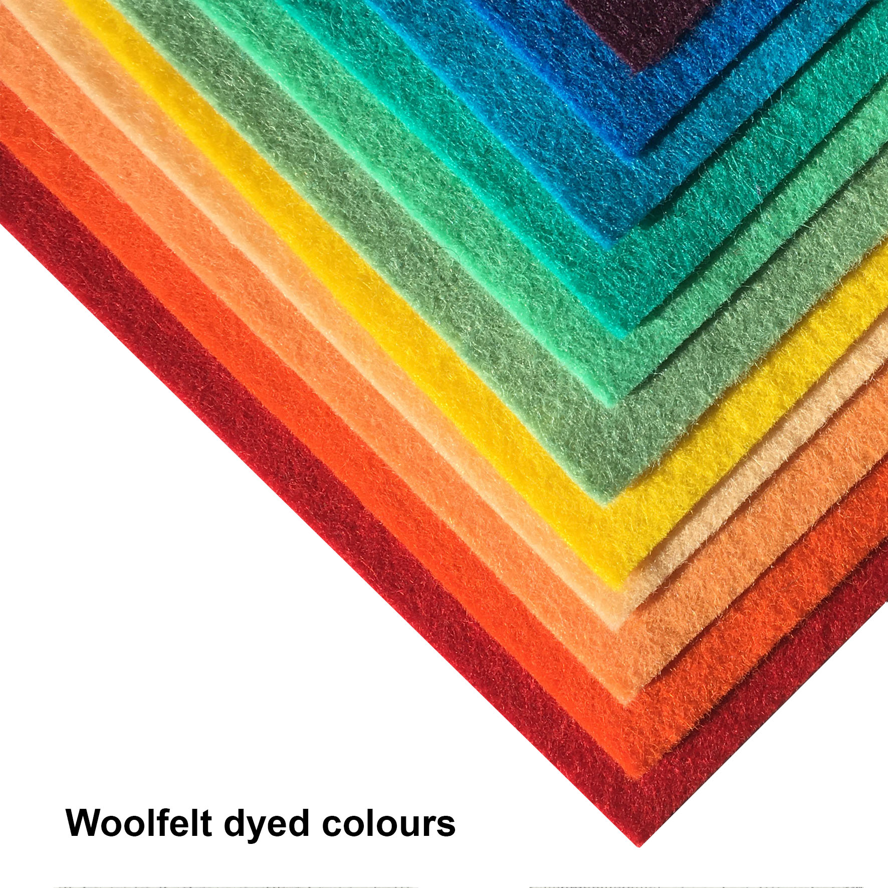 Woolfelt dyed colours
