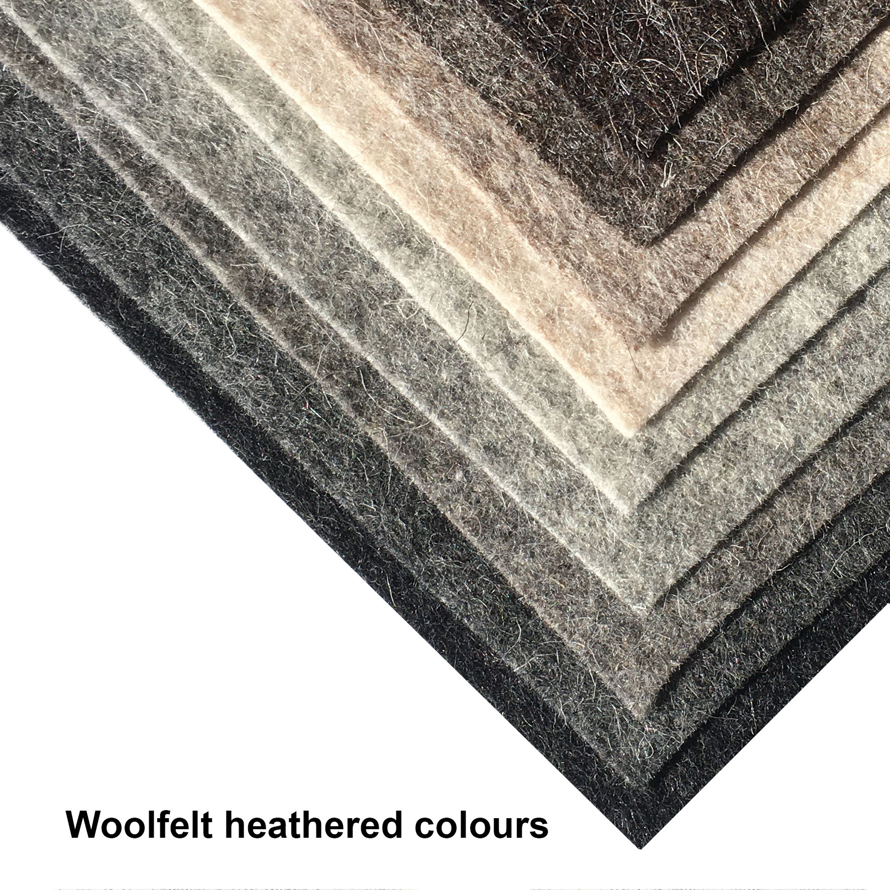 Woolfelt heathered colours