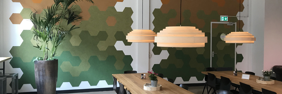 hexagonal felt tiles